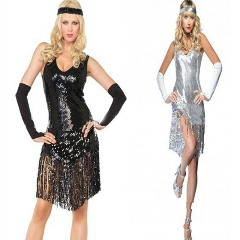 New high-quality cosplay costume DS nightclub stage outfit Latin dance costume sexy fringe sequin skirt performance skirt Hallow