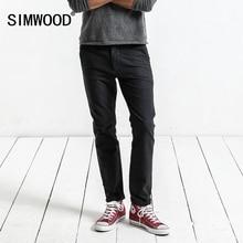 SIMWOOD מותג מכנסיים 2019 סתיו מכנסי קזואל גברים האופנה Slim Fit מכנסיים גברים באיכות גבוהה בתוספת גודל בגדי XC017018