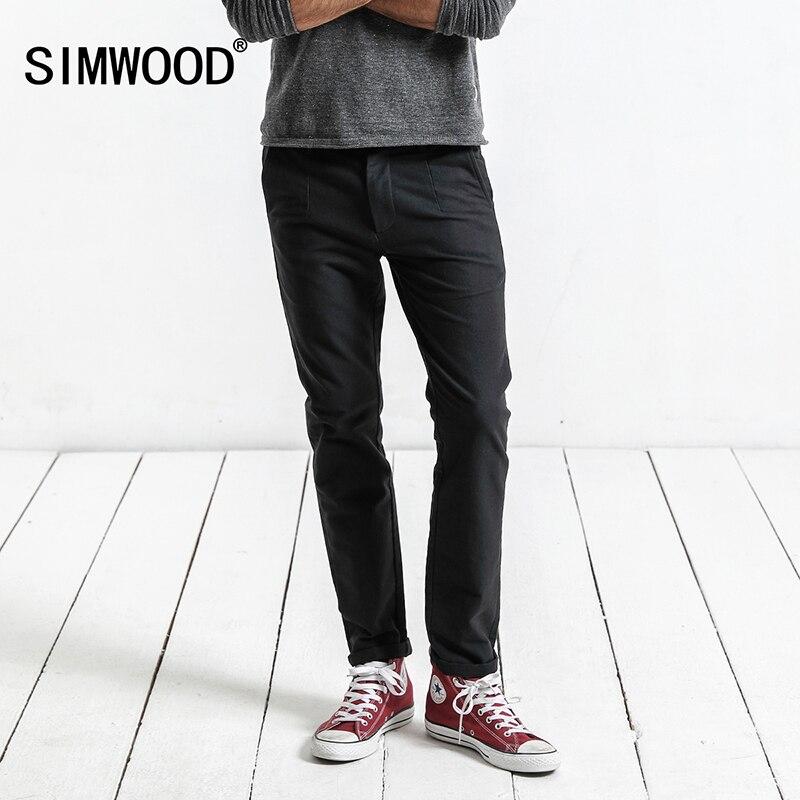 SIMWOOD Marca Calças 2019 Primavera Calça Casual Homens Moda Slim Fit Calças Dos Homens De Alta Qualidade Plus Size Roupas XC017018