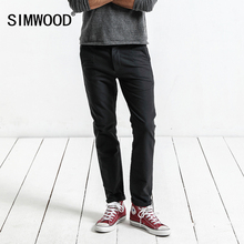 Simwood 브랜드 바지 2019 가을 캐주얼 바지 남자 패션 슬림 맞는 바지 남자 고품질 플러스 사이즈 의류 xc017018