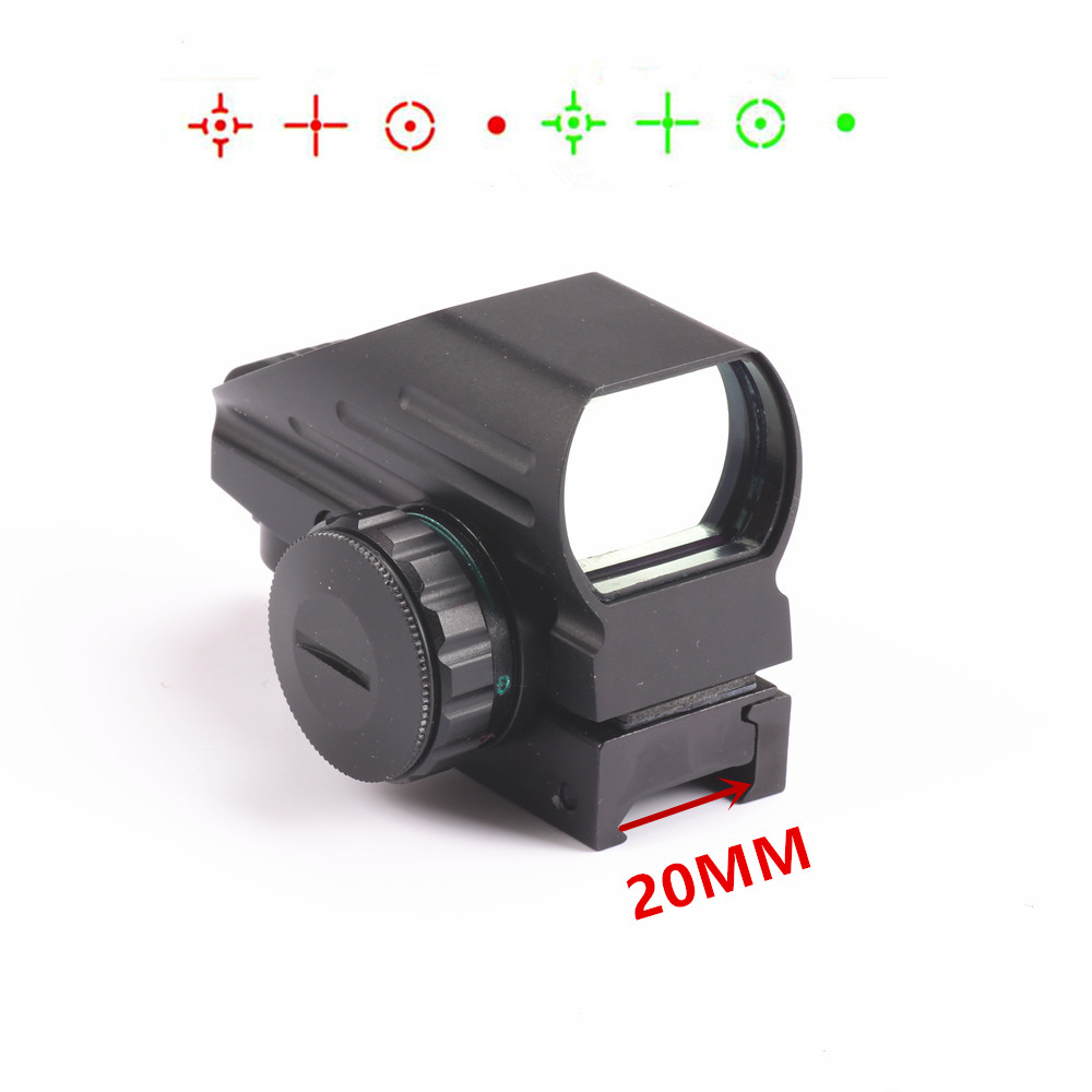 Hunting RifleScope Optics Holographic Green Red Dot Reflex Sight with 4 Various Reticle 20mm Rails Mount hunting sports riflescope optics holographic green red dot reflex sight with 4 various reticle 20mm rails mount
