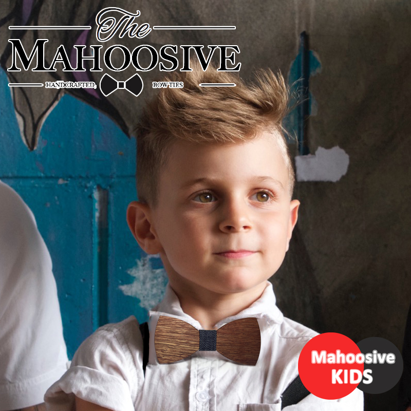 Baby Boys Girls Bowtie Kids Wooden Bow Slips Slips Små Størrelse Butterfly School Child Student Slips Cravat Gravatas COMBO