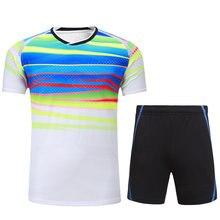 d9e809c55 Mujeres hombres transpirable conjunto Vóleibol Jerséis Bádminton uniformes  set Ping Pong ropa específica equipo juego