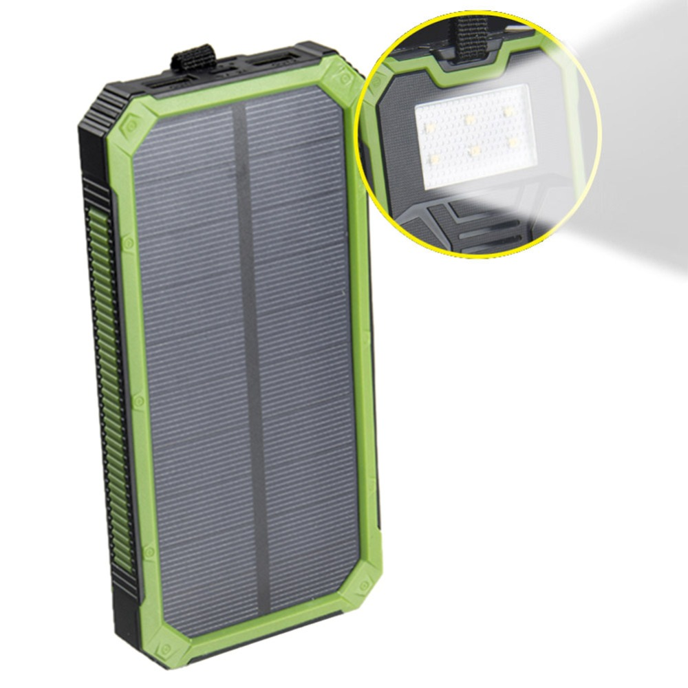 sports shoes af84b 37a63 Tollcuudda Portable Solar Power Bank Dual USB Power Bank 10000mAh  waterproof external Solar Panel powerbank with LED light-in Power Bank from  ...