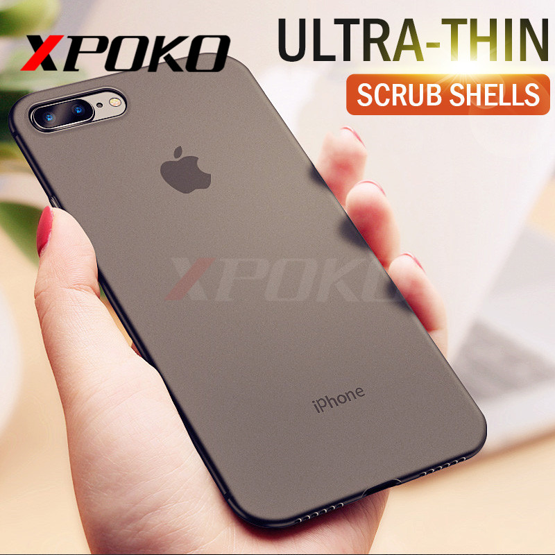 XPOKO 0.26mm Slim Matte Phone Case For iphone 6 6s 7 Plus 5 5s SE X Ultra Thin Cover Cases For iphone 7 8 Plus X 8 7 6 6s Case