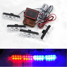 4×4 16LED 16 W Wireless Strobe DRL Luz de Advertencia Del Coche Policía Bombero Luces Luces Car Styling Aparcamiento Correr luces