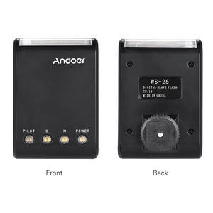 Image 2 - Andoer WS 25 Mini esclavo Digital portátil, Flash Speedlite, con zapata Universal, GN18, para Canon, Nikon, Pentax, Sony