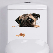 Dog Decorative Wall Stickers For Kids Room Toilet Bathroom Decor Home Decoration On Cars 3D Decals PVC Mural Art Poster