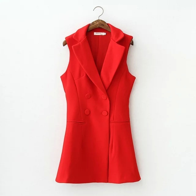 2017 Suede Vest Europe New Women's Clothing Wholesale Spot Solid Color Joker Double-breasted Slim Saf968 Chalecos Mujer Flecos