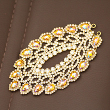 2018 New style Shine luxurious Rhinestone Applique For wedding Dress Belt Rhinestone trim for Party Dress  Sew on Rhinestone