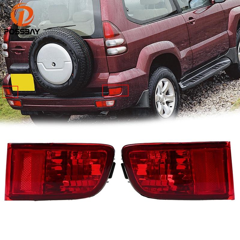 POSSBAY Rear Bumper Reflector Stop Brake Fog Lights font b Lamps b font for Toyota Land