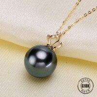 Luxury genuine G18K Gold Accessories Fashion Pearl Pendant Settings Findings Pendant Mountings Women Accessories Female Jewwelry