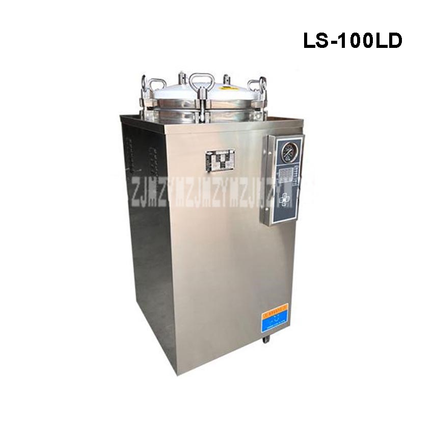 100L 4.5KW Stainless Steel Sterilization Pressure Steam Sterilizer Automatic Disinfecting Cabinet For Surgical Medical LS-100LD