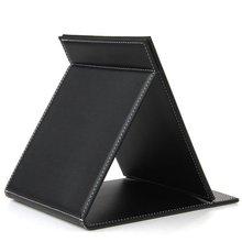 JEYL Черный Кожаный Стол Руку Компактный Зеркало Для Макияжа 9.1×7.1″