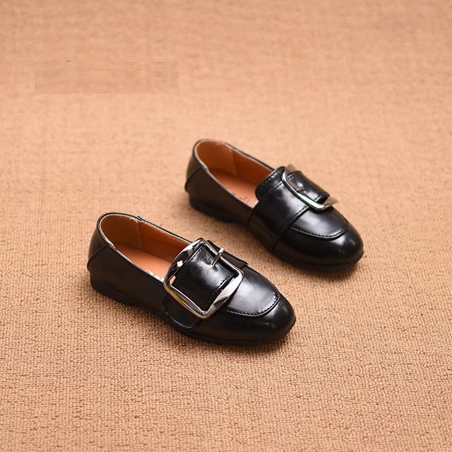 2017 детские Кожаные Shoes Новая Мода Дышащая Мальчики Девочки Shoes Kids Casual Shoes Тапки Марка Baby Shoes Size 26-35