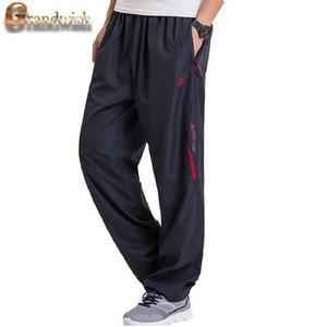 Image 2 - Grandwish男性の冬のサイズウールインサイド冬暖かい男性厚いパンツプラスサイズ6XLメンズフリースパンツズボン、PA782
