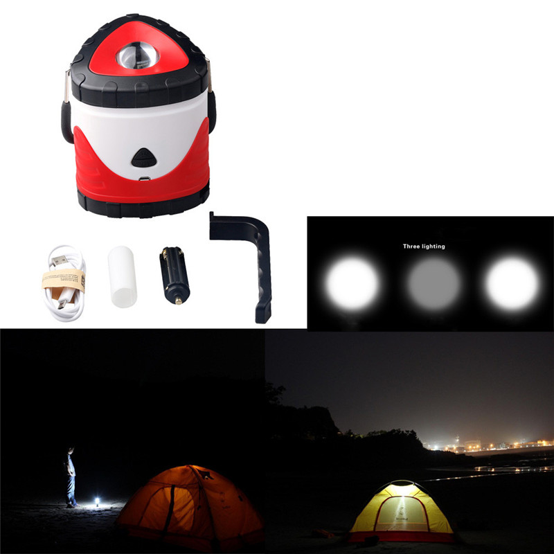 B2 LED Rechargeable Camping Outdoor Hiking Lantern Light Tent USB Lamp Bicycle Light Hiking&Camping Wholesale&Retail