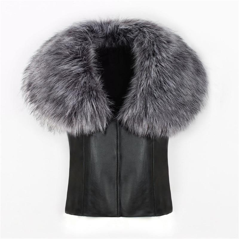2018 spot fashion Europe and America party high-end fox fur faux fur vest elegant elegant fur (6)