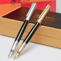 Picasso 906 Full Metal Fountain Pen Ink Pen Iraurita Nib 0.5mm/1.0mm Signning Pen Student Calligraphy Writing Business Gift Box