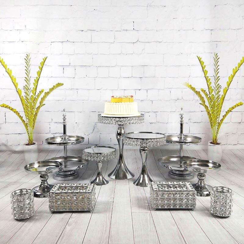 9 11 шт./набор, подставка для десерта, держатель для кекса, кристалл, свадебный набор, инструменты для украшения вечеринки, подставка для тарел