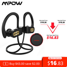 Mpow Flame Bluetooth Headphone IPX7 Waterproof Wireless Headset Handsfee Sports Earphones With Mic And 7H Playing Time For Phone(China)