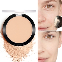 Natural Whitening Face Powder Foundations Oil-control Brighten Concealer Make Up Pressed Powder Long Lasting