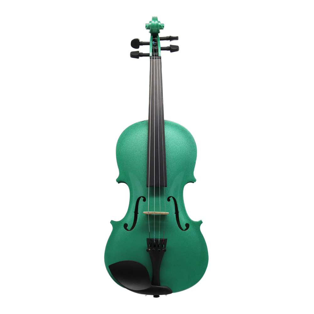 w/ Case Bow Rosin Shoulder Rest Mute Strings Green Acoustic Violin Violino Viola 4/4 3/4 1/2 1/4 1/8 for Beginner Students
