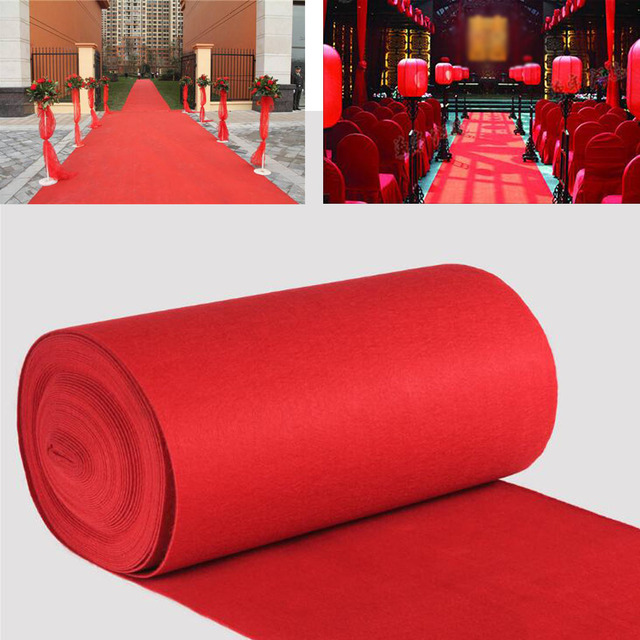 Large Wedding Red Carpet For Birthday Party Film Festivals Hollywood Event Decor Aisle Floor Runner Outdoor