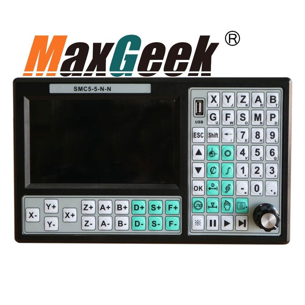 CNC 5 Assi Controller di Movimento In Linea CNC Controller 500 khz Sostituire Mach 3 USB Controller di Movimento 7 pollici di Schermo