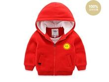 boys hooded jacket teenager kids velvet coat girls shirts cartoon sun for Autumn Winter size 2-9Y