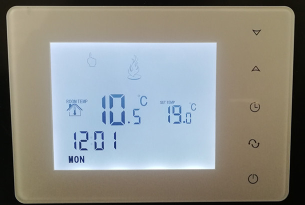 Touchscreen Bunte Gaskessel Heizung Thermostat Batterieleistung Digitalen Lcd-bildschirm Thermostat Für Boiler Room Temperaturregler Dauerhafte Modellierung Klimaanlagen Haushaltsgeräte