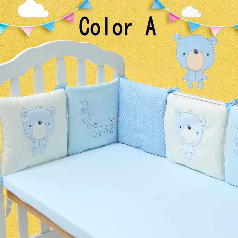 la venta caliente infantil cama cuna parachoques protector para bebs nios de algodn cuna nursery
