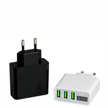 3 Port USB Charger Adapter LED Display 3A output EU/US Plug Portable Phone Fast Charging For iPhone Samsung S8 Mobile Phone