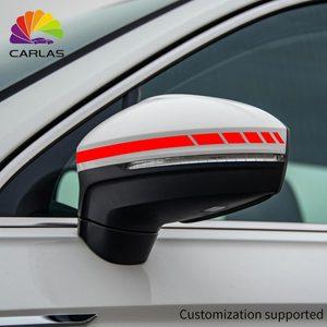 Image 3 - سيارة التصميم عاكس ملصق مضاد للمياه الرؤية الخلفية الجانب مرآة صائق شريط DIY زينة الخارجي لتويوتا BMW بنز