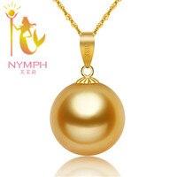 Hangers 2016 vrouwen natuurlijke southsea parels luxe 18 K gold accessoire en verzonden zilveren ketting GRATIS VERZENDING, Mix order geaccepteerd