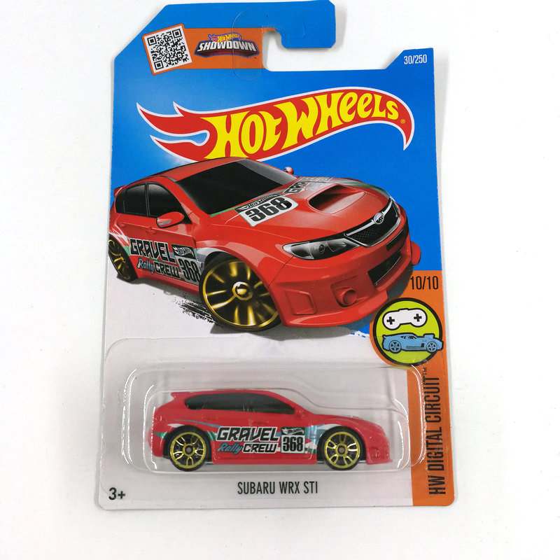Hot Wheels 1:64 Sportbil 2016 Set Metal Material Body Race Car SUBARU - Bilar och fordon - Foto 4