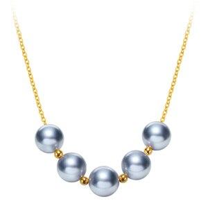 Image 5 - Жемчужное ожерелье с жемчугом Akoya Hanadama, 18 К, 8 9 мм