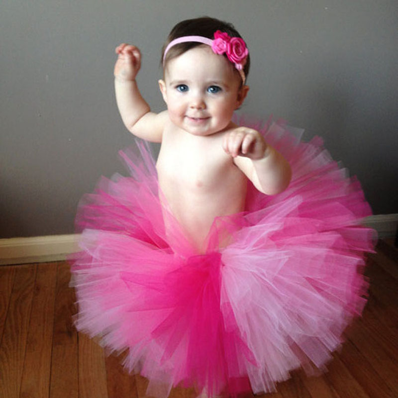 Hot Sales Colorful 9 Designs Baby Tutu Pettiskirt Photography Outfits Children Chiffon Fluffy Pettiskirts Rainbow Color 0 - 12M