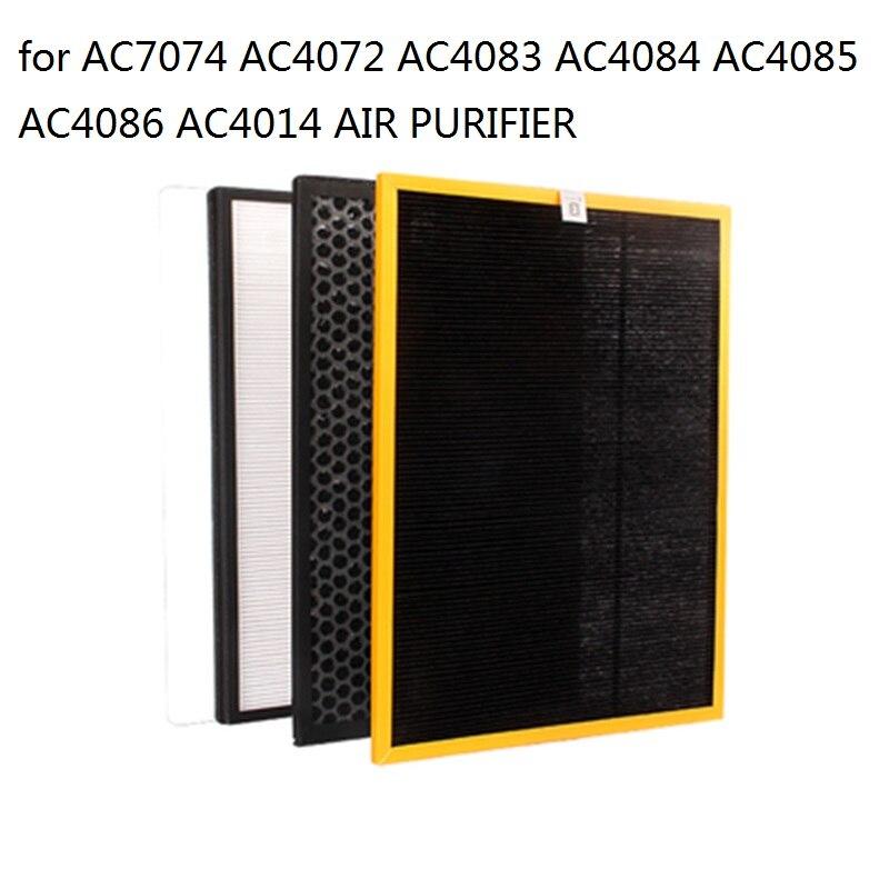 3 pcs/ensemble Remplacement Filtre AC4142 + AC4143 + AC4144 Pour Philips AC4072 AC4074 AC4083 AC4084 AC4085 AC4086 AC4014 Purificateur D'air