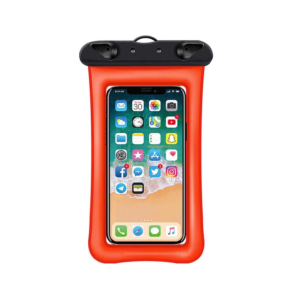 6 Inch Float Airbag Waterdichte Zwemmen Tas Mobiele Telefoon Case Cover Dry Pouch Universele Duiken Drifting Riving Trekking Tassen