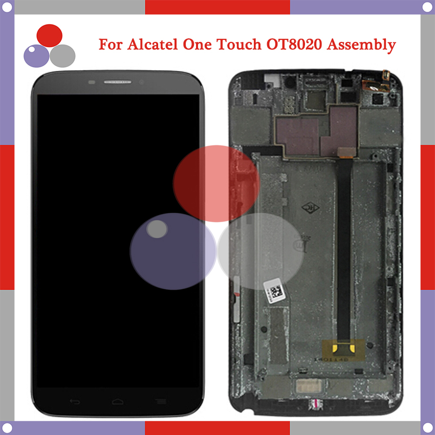 LCD For Alcatel One Touch Hero 8020D OT8020 FULL LCD Display with FRAME Touch Screen Complete Digitizer Assembly Parts