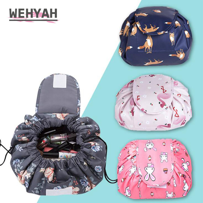 Wehyah Travel Drawstring Cosmetic Bag Case Makeup Bag Packing Organizers Magic Pouch Wash Storage Toiletries Storage Bag ZY104