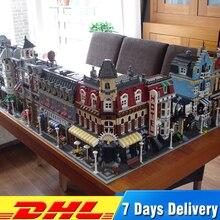 City Модель «улица» Buillding блоки Совместимые части игрушек LegoINGlys 10182 10224 10211 10190 10185 10218 10197