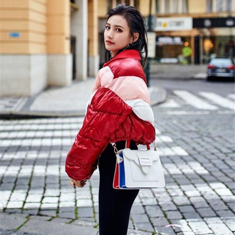 2018 Hiver Grande Femelle Lâche 2029 Coton Chaud Color Survêtement Femmes Taille Courte Parkas Épais De Photo Veste Court Étudiant Mode 11qwxdBr7