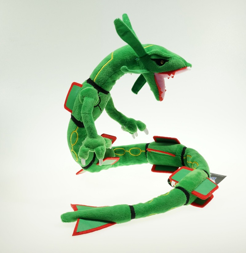 Free shipping center XY Japan Rayquaza Stuffed Plush Doll Toys 80cm for Birthday Gift fancytrader new style giant plush stuffed kids toys lovely rubber duck 39 100cm yellow rubber duck free shipping ft90122