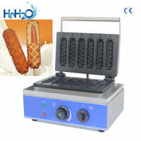 Commercial Non-stick 6 stick electric French Muffin waffle Hot Dog Machine Lolly Waffle Maker Crispy stick machine