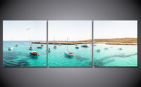 Framed Printed Clear Water Yacht Painting Children S Room Decor Print Poster Picture Canvas Free Shipping