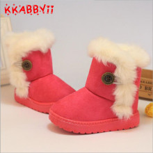 Warm Kids Snow Boots For Children New Toddler Winter Princess Child Shoes Non-slip Flat Round Toe Girls Baby Lovely Boots