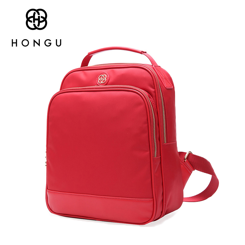 HONGU Fashion Travel Bags Women Backpack Daily Top-handle Backpacks For Teenage Girls School Bag Female Pure Shoulder Bags Totes 3157 fashion backpack women bag nylon waterproof school bags for teenage girls headphone plug travel daypack female shoulder bag