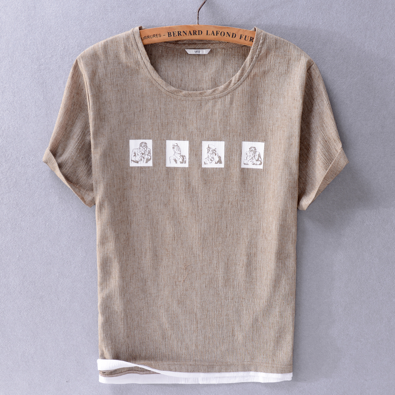 Summer New Italy Style Coffee T Shirt Men Brand Fashion T-shirt Mens Solid Tops Casual T Shirts Male Round Neck Tshirt Chemise